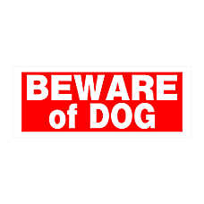 Hillman Sign Center Plastic Beware of Dog Sign