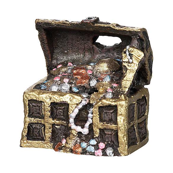 Top fin treasure chest aquarium ornament fish ornaments for Fish tank treasure chest