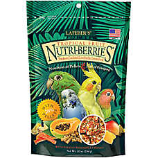 Lafeber's Nutri-Berries Tropical Fruit Parakeet & Cockatiel Food