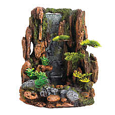 Top fin mountain cliff waterfall aquarium ornament fish for Aquarium waterfall decoration