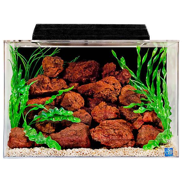 Seaclear 20 gallon aquarium hood fish aquariums petsmart for 20 gallon fish tank petsmart