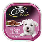 Cesar® Canine Cuisine Puppy Food - Chicken & Beef