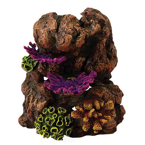 Top fin fungus rock aquarium ornament fish ornaments for Petsmart fish decor