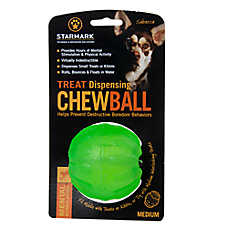 Starmark Chew Ball Treat Dispenser Dog Toy