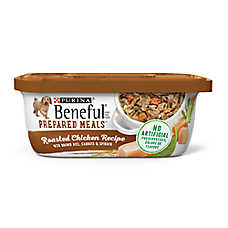 Purina® Beneful® Prepared Meals Dog Food - Roasted Chicken Recipe with Pasta, Carrots & Spinach
