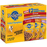 PEDIGREE® Little Champions® Grilled Cuts 12 Pouch Variety Pack Dog Food