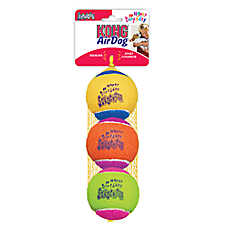 "KONG® Air Dog® ""Happy Birthday"" Tennis Ball Set Squeaker Dog Toy"