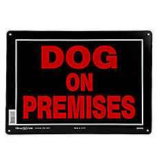 Hillman Sign Center Dog on Premises Sign