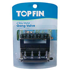 Top Fin® 4 Way Metal Gang Valve