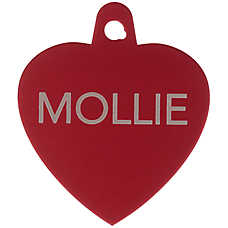 TagWorks® Sport Collection Heart Personalized Pet ID Tag