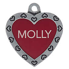 TagWorks® Designer Collection Large Heart Personalized Pet ID Tag