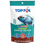 Top Fin® Cichilid Color Enhancing Medium Pellets Fish Food