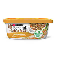 Purina® Beneful® Prepared Meals Dog Food - Chicken Stew with Rice, Carrots, Peas & Barley