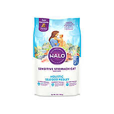 HALO® DreamCoat Sensitive Stomach Cat Food - Natural, Holistic Seafood Medley