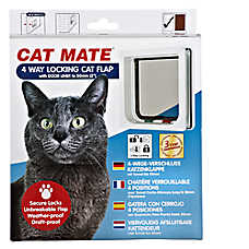 Cat Mate 4-Way Locking Cat Flap with Liner