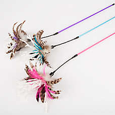 ToyShoppe® Spiral Feather Teaser Cat Toy