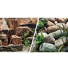 Marina® Reversible Rocky Canyon & Riverbed Aquarium Background