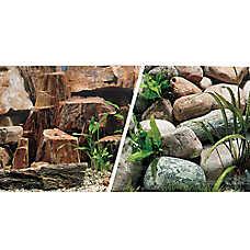 Marina® Reversible Rocky Canyon & Riverbed Aquarium Background
