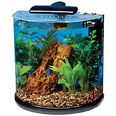Marineland® 10 Gallon Half-Moon Desktop Aquarium