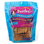 Dentley's Traditional Rawhide Chew Chips Medium Dog Treats