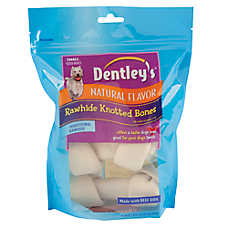 Dentley's™ Traditional Rawhide Knotted Bones Small Dog Treats