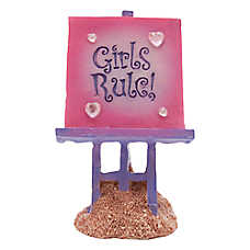 "Top Fin® ""Girls Rule"" Aquarium Ornament"
