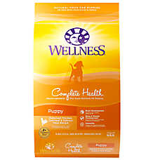 Wellness® Complete Health Puppy Food - Natural, Chicken, Oatmeal & Salmon Meal