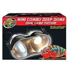 ZOO MED™ Mini Combo Deep Dome Reptile Lamp Fixture