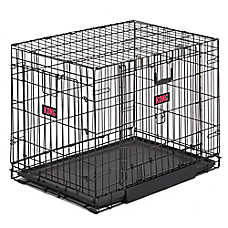 kong space saving doubledoor pet crate