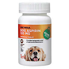 GNC Pets® Mega Dog Aspirin Chewable Tablets - Beef