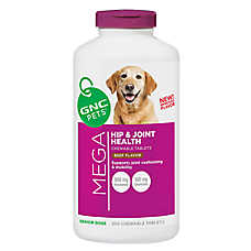 GNC Pets® Mega Hip & Joint Senior Dog Chewable Tablets - Beef