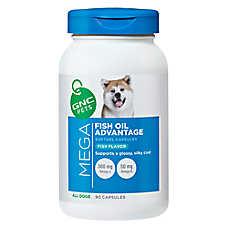 GNC Mega Fish Oil Advantage Dog Softgel Capsule