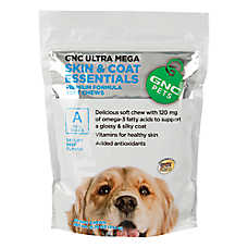 GNC Ultra Mega Skin & Coat Essentials Dog Soft Chew
