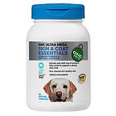 GNC Ultra Mega Skin & Coat Essentials Adult Dog Softgel Capsule