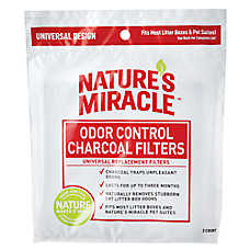 NATURE'S MIRACLE™ Odor Control Cat Litter Box Charcoal Filter