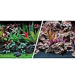 Marina® Reversible Precut Jungle Flora & Red Lava Aquarium Background