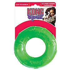 KONG® Squeezz Ring Squeaker Dog Toy (COLOR VARIES)