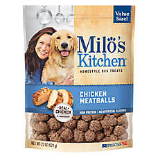 Milo's Kitchen Dog Treat - Chicken Meatballs