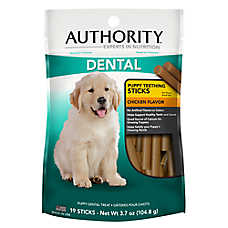 Authority® Puppy Teething Sticks Dental Treat - Chicken