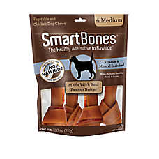 SmartBones® Medium Chews Dog Treat - Peanut Butter