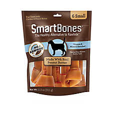SmartBones® Small Chews Dog Treat - Peanut Butter