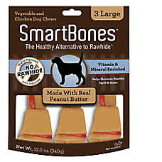 SmartBones® Large Chews Dog Treat - Peanut Butter