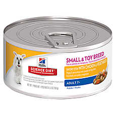 Hill's® Science Diet® Small &Toy Breed Mature Adult Dog Food - Savory Stew Chicken & Vegetables