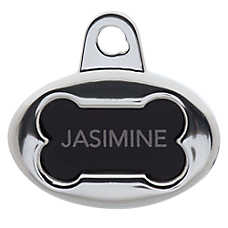 TagWorks® Ruff N' Tumble Oval Bone Personalized Pet ID Tag