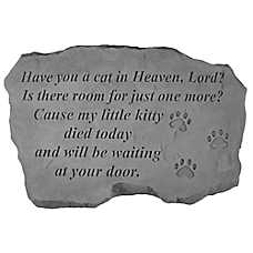 Kay Berry Cat in Heaven Memorial Stone