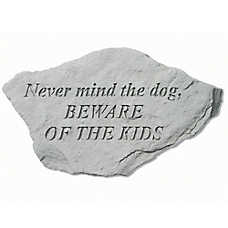 Kay Berry Beware of the Kids Decorative Stone