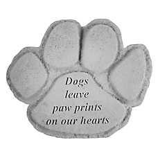 Kay Berry Paw Print Dog Memorial Stone