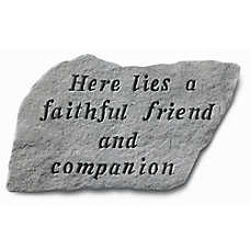 Kay Berry Faithful Friend Pet Memorial Stone