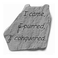 Kay Berry I Purred, I Conquered Pet Headstone