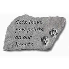 Kay Berry Paw Print Cat Memorial Stone